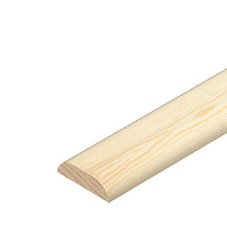 Cheshire Mouldings D Mould Pine Covers 2400mm Length - Various Sizes Available