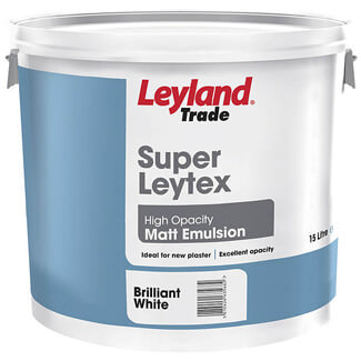 Leyland Trade Super Leytex Matt Emulsion Paint 15L - Various Colours Available
