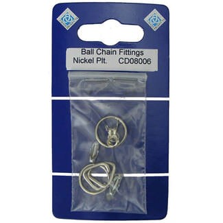 Chain Products No.6 Ball Chain Fittings Nickel Plated