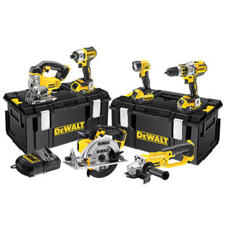 Dewalt 18V Brushless 3 Speed 6 Piece Kit And 3 x 5.0Ah Battery