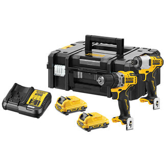 Dewalt 12V XR Brushless Sub-Compact Twin Pack And 2 x 3.0Ah Battery