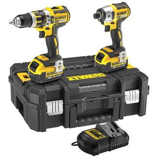 Dewalt Brushless Compact Combi Drill Twin Pack