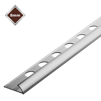 Tile Rite Quadrant Economy Trim Silver - Various Sizes Available