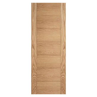 LPD Carini 7 Panel Oak Internal Fire Door 44mm Thick - Variation Available