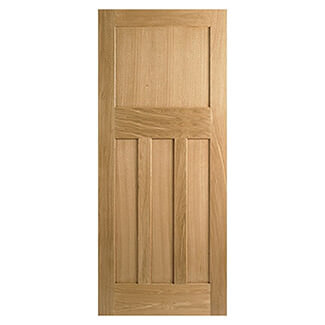 LPD DX 30s Style 44mm Thick Unfinished Oak Internal Fire Door - Variation Available