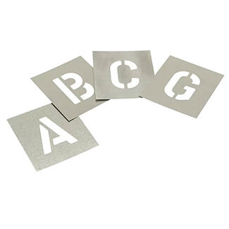 Stencils Set Of Non Interlocking Zinc Stencils Letters