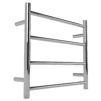 Warmup Anise Polished Straight Ladder Round Towel Rail - Variation Available