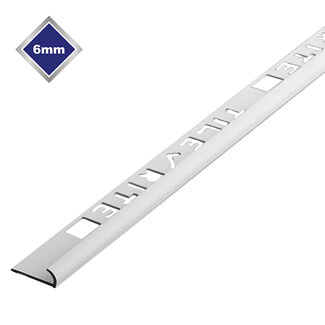 Tile Rite Round Profile Economy Tile Trade Trim - Various Sizes And Finishes Available