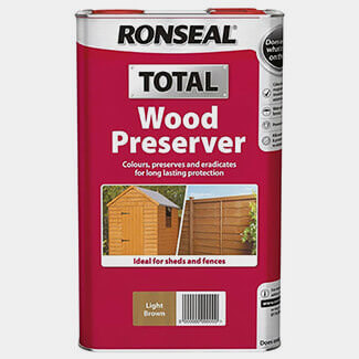 Ronseal Total Wood Presservative 5Ltr - Finishes Available