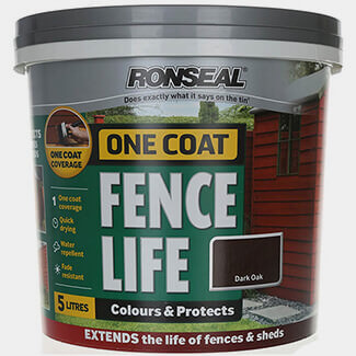 Ronseal One Coat Fence Life 5L Dark Oak