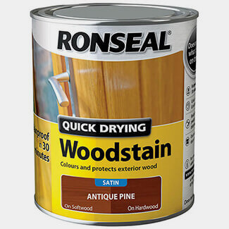 Ronseal Quick Drying Woodstain 750ml Antique Pine Satin