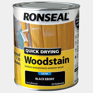 Ronseal Quick Drying Woodstain 750ml Black Ebony