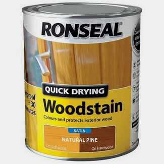 Ronseal Quick Drying Woodstain 750ml Natural Pine Satin
