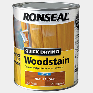 Ronseal Quick Drying Woodstain 750ml Natural Oak Satin