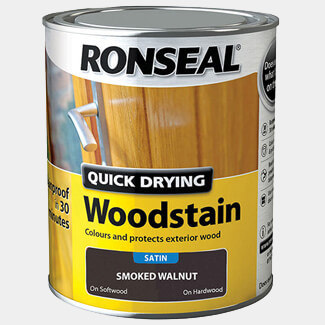 Ronseal Quick Drying Woodstain 750ml Smoked Walnut Satin