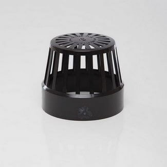 Polypipe Soil 110mm Vent Terminal Black