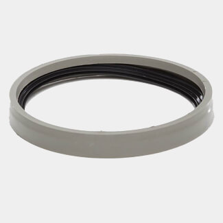 Polypipe Solvent Soil 110mm Ring Seal Adaptor Solvent Grey