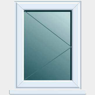 Crystal PVCU 620mm x 1050mm Window Side Hung RH Open Clear Glass