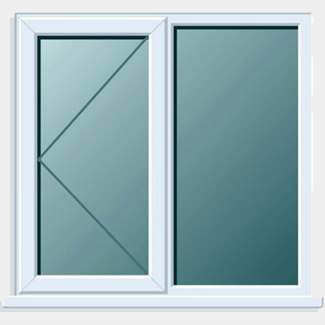 Crystal PVCU 1200mm x 1050mm Window Side + Side Hung LH Open Clear Glass