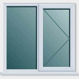 Crystal PVCU 1200mm x 1050mm Window Side + Side Hung RH Open Clear Glass