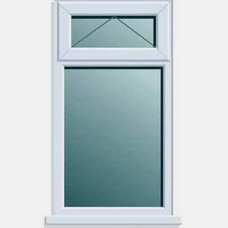 Crystal PVCU 620mm x 1050mm Window Top Light Clear Glass