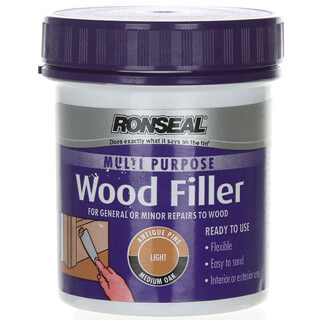 Ronseal 250g Tub Multi Purpose Light Wood Filler