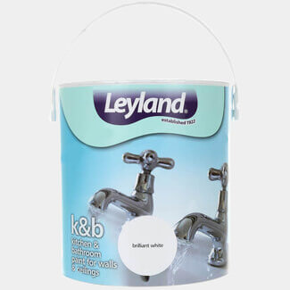 Leyland Retail Kitchen And Bathroom Paint 2.5L - Brilliant White