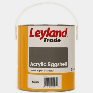 Leyland Quick Drying Acrylic Eggshell Paint Magnolia 2.5L