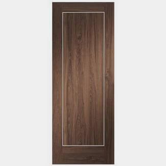 XL Joinery Varese 1981mm-Height x 35mm-Thick Internal Walnut Veneer Prefinished Door - Various Width Available