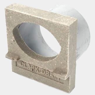 Clark Drain Outlet End Cap For Polymer Concrete Channel