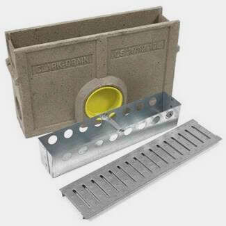 Clark Drain Polymer Concrete Silt Box Includes Galv Steel Grating A15 500mm