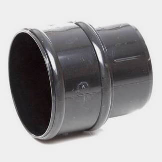 Polypipe Round 68mm Downpipe Connector Black