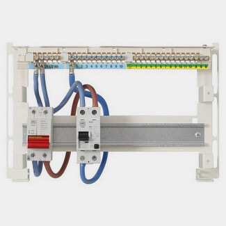 MK Sentry 10 Way Skeleton Unit with Switch and RCD