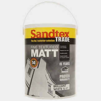 Sandtex Trade Fine Textured Matt 5L Brilliant White