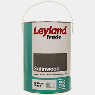 Leyland Paint Trade Satinwood 5L Brilliant White