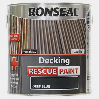 Ronseal Decking Rescue Paint 2.5L Deep Blue