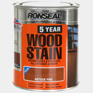 Ronseal 5 Year Woodstain 750ml Antique Pine