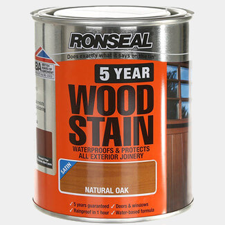 Ronseal 5 Year Woodstain 750ml Natural Oak