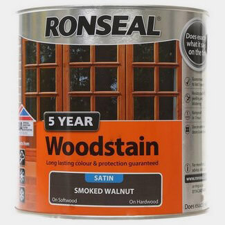 Ronseal 5 Year Woodstain 750ml Smoked Walnut