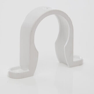 Polypipe Waste Solvent Weld ABS 32mm Pipe Clip White