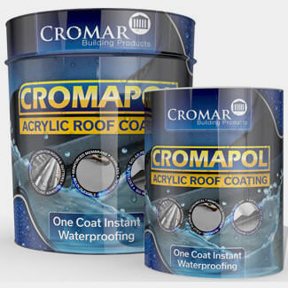 Cromar Cromapol One Coat Instant Waterproofing Acrylic Coating Grey - Various Pack Sizes Available