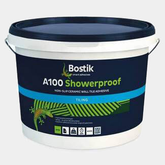 Bostik A100 Showerproof Non Slip Ceramic Wall Tile Adhesive - Various Pack Sizes Available