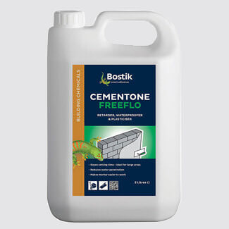 Bostik Cementone Freeflo Waterproofer Plasticiser And Retarder 5L