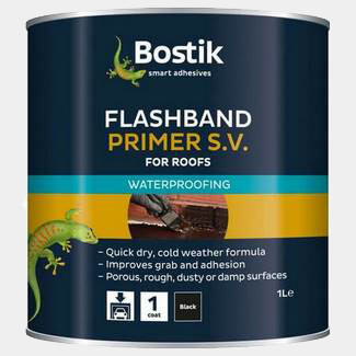 Bostik Black 1 Litre Flashband Primer SV For Roofs
