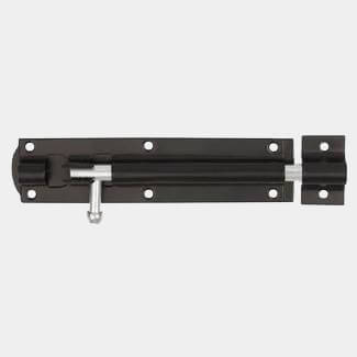 Dale Straight Tower Bolt Black Japanned - Sizes Available