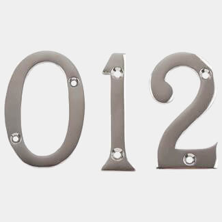 Dale Polish Chrome Plated Numeral Number 0 To 9 - Variations Available