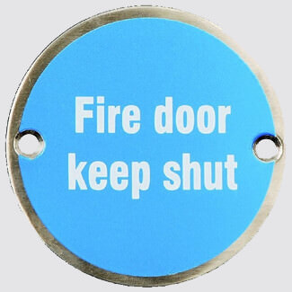 Dale Fire Door Keep Shut Sign 75mm - Variation Available