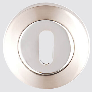 Dale Keyhole Escutcheon On Round Rose - Various Finish Available