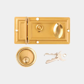 Dale Traditional Deadlocking Night Latch Champagne Brass - Sizes Available