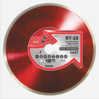 DART Red Ten RT-10 Ceramic Diamond Blade - Various Sizes Available